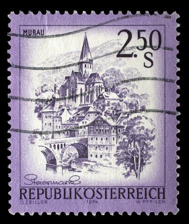steiermark: A stamp printed in Austria shows Murau, from the series Sights in Austria