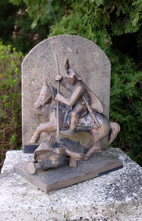 martyr: Saint George, parish church of the St. George Martyr in Gornja Stubica, Zagorje region, Croatia  Stock Photo