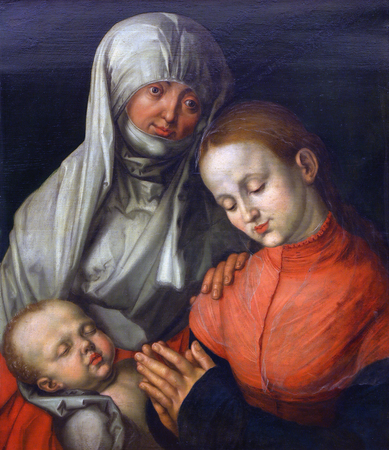 durer: Copies of Albrecht Durer: Madonna and Child with St. Ann, Old Masters Collection, Croatian Academy of Sciences, December 08, 2014 in Zagreb, Croatia