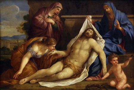 lamentation: Giovanni Francesco Romanelli: Lamentation of Christ, Old Masters Collection, Croatian Academy of Sciences, December 08, 2014 in Zagreb, Croatia Editoriali