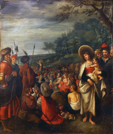 frans: Frans Francken way: preaches of St.. John the Baptist, Old Masters Collection, Croatian Academy of Sciences, December 08, 2014 in Zagreb, Croatia Editorial
