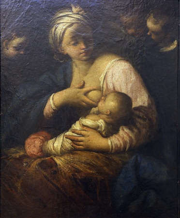 simone: Simone Cantarini: Virgin and Child, Old Masters Collection, Croatian Academy of Sciences, December 08, 2014 in Zagreb, Croatia