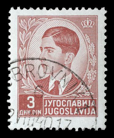 yugoslavia: A stamp printed in Yugoslavia shows King Peter II, circa 1939. Editorial