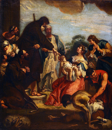 resurrect: According to Sebastiano Ricci: St. Francis resurrects a child, Old Masters Collection, Croatian Academy of Sciences, December 08, 2014 in Zagreb, Croatia