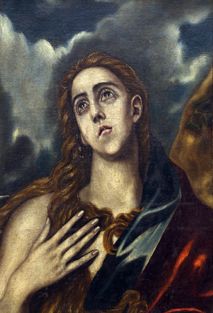Follower of Domenico Theotocopuli El Greco: St. Mary Magdalene, Old Masters Collection, Croatian Academy of Sciences, December 08, 2014 in Zagreb, Croatia