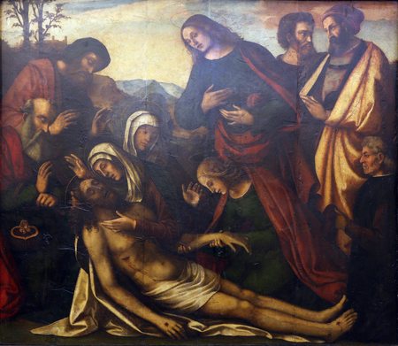 lamentation: Benedetto Coda: Lamentation of Christ, Old Masters Collection, Croatian Academy of Sciences, December 08, 2014 in Zagreb, Croatia