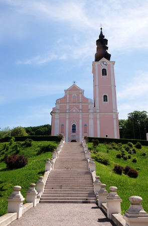 assumption: Church of the Assumption of the Blessed Virgin Mary in Pakrac, Croatia on May 07, 2015