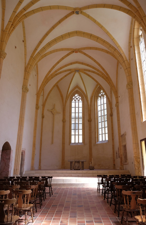 virginity: The old Gothic church in Carthusian monastery in Pleterje, Slovenia on June 30, 2015