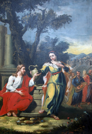 attributed: Miracles attributed to Jesus, Miraculous conversion of a Samaritan woman, parish Church of the Immaculate Conception of the Virgin Mary in Lepoglava on September 21, 2014