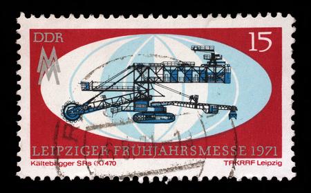 gdr: Stamp printed in GDR shows Leipzig Fair, circa 1971