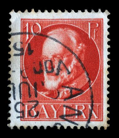 Series of stamps of Bavaria, Ludwig III, King of Bavaria 1845-1921, circa 1915