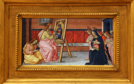 Luke: Francesco di Gentile: St. Luke paints the Virgin, Old Masters Collection, Croatian Academy of Sciences, December 08, 2014 in Zagreb, Croatia