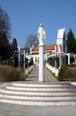 church of our lady: Our Lady, Memorial Church of the Passion of Jesus in Macelj, Croatia on March 21, 2015