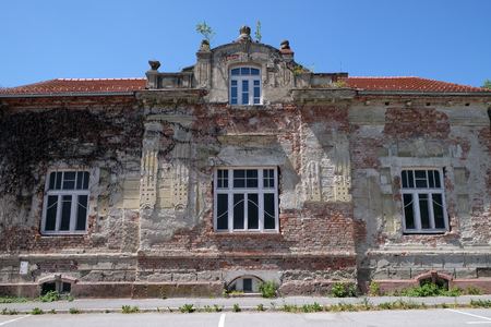 aftermath: Destroyed house as war aftermath. The Croatian War of Independence was fought from 1991 to 1995 in Pakrac, Croatia on May 07, 2015