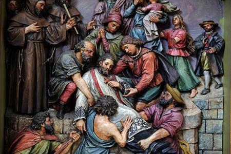 martyrdom: Martyrdom of Saint John of Nepomuk, the altar in the Basilica of the Sacred Heart of Jesus in Zagreb, Croatia