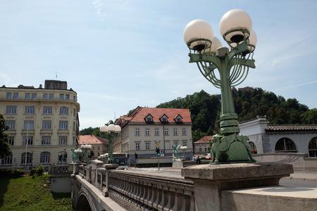ljubljana: Dragon Bridge in Ljubljana, Slovenia