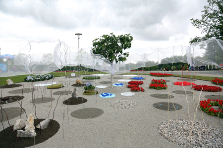 collate: Flowers exposed on Floraart, 49 international garden exhibition in Zagreb, Croatia, on May 30, 2014.