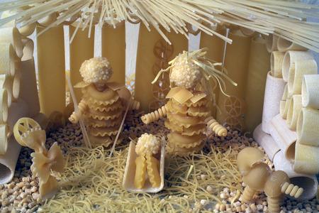 pesebre: Natividad Escena Foto de archivo