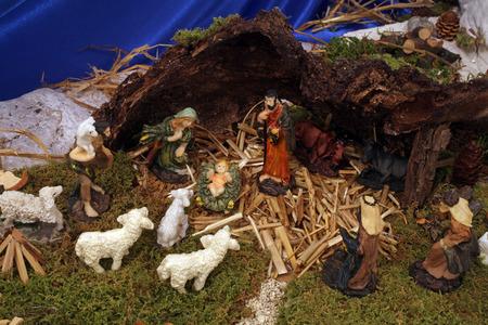 guardería: Natividad Escena Foto de archivo