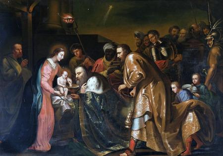 nativity: Nativity Scene, Adoration of the Magi, Chapel in the Carthusian monastery in Pleterje, Slovenia Editorial