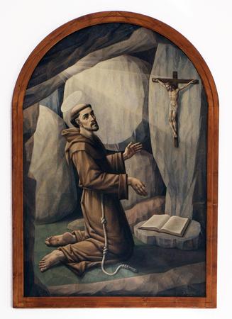 retablo: Saint Francis of Assisi, altarpiece in the Church of Saint Francis of Assisi in Lipik, Croatia