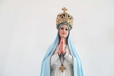 Our Lady of Fatima statue in the Church of Saint Francis of Assisi in Lipik, Croatia