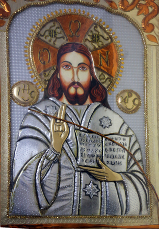 the gospels: Jesus the Teacher, Catholic Cathedral of the Most Holy Rosary, commonly known as the Portuguese Church, in Kolkata. It is also known as the known as the Murgihata Church and was founded in 1799.