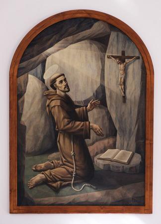altarpiece: Saint Francis of Assisi, altarpiece in the Church of Saint Francis of Assisi in Lipik, Croatia