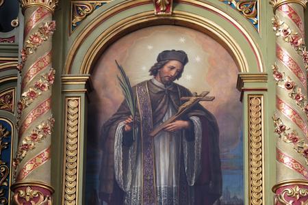 christian altar: Saint John of Nepomuk, the altar in the Basilica of the Sacred Heart of Jesus in Zagreb, Croatia