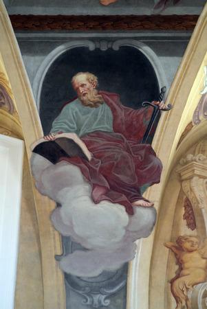 apostle: Saint Paul the Apostle, fresco on the ceiling  of the Cathedral of St Nicholas iN Ljubljana, Slovenia