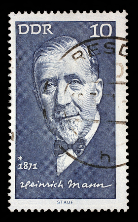 heinrich: Stamp printed in GDR shows Heinrich Mann1871-1950, writer, circa 1971 Stock Photo