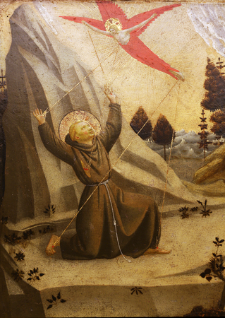 st francis: Fra Angelico: The stigmatization of St. Francis of Assisi Editorial