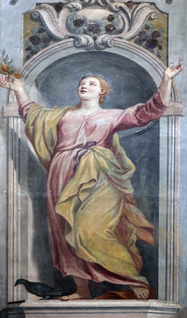 fresco: Fresco painting in the St Nicholas Cathedral in Ljubljana, Slovenia