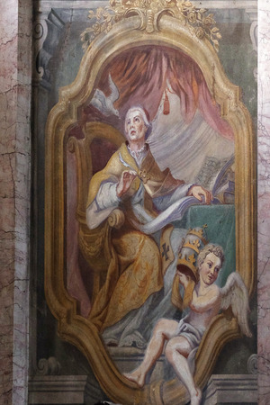 st nicholas cathedral: Fresco painting in the St Nicholas Cathedral in Ljubljana, Slovenia
