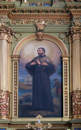 francis: Saint Francis Xavier, altarpiece in the Basilica of the Sacred Heart of Jesus in Zagreb, Croatia