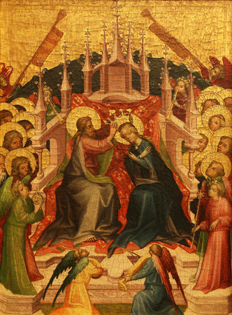 coronation: Unknown Styrian painter: Coronation of the Virgin, Old Masters Collection, Croatian Academy of Sciences, December 08, 2014 in Zagreb, Croatia