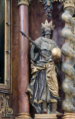 leonard: Saint Stephen of Hungary, main altar in the church of Saint Leonard of Noblac in Kotari, Croatia