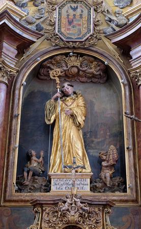 leonard: Saint Leonard of Noblac, main altar in the church of Saint Leonard of Noblac in Kotari, Croatia Stock Photo