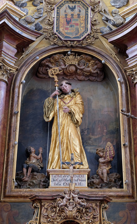 leonard: Saint Leonard of Noblac, main altar in the church of Saint Leonard of Noblac in Kotari, Croatia Editorial