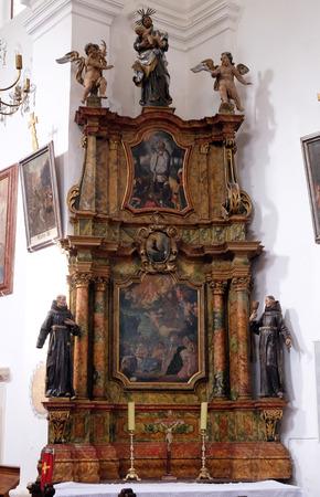 leonard: Altar of Saint Anthony in the church of Saint Leonard of Noblac in Kotari, Croatia