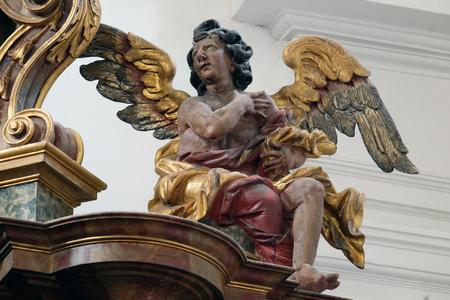 leonard: Angel on the altar in the church of Saint Leonard of Noblac in Kotari, Croatia