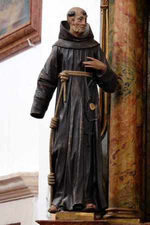 leonard: Statue of Saint James of the Marches on altar of Saint Anthony in the church of Saint Leonard of Noblac in Kotari, Croatia