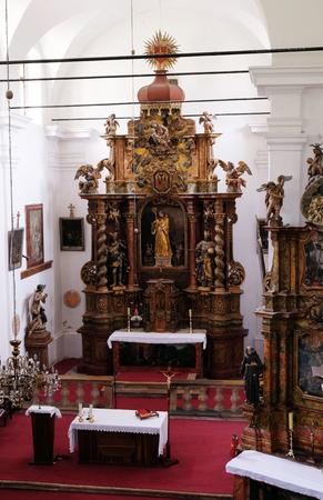 leonard: Main altar in the church Leonard of Noblac in Kotari, Croatia Stock Photo