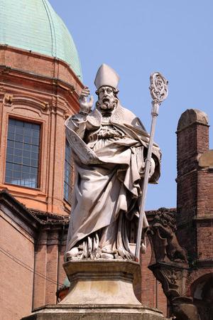 and saint: Saint Petronius, Saint Bartholomew church in Bologna, Italy