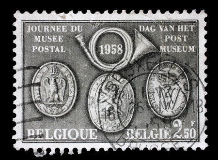 issued: Stamp from Belgium illustrating Day of the Post Museum, issued in 1958.