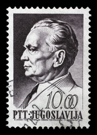 depicted: Stamp printed in Yugoslavia, is depicted Josip Broz Tito, circa 1968