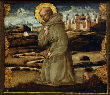 st  francis: Neri di Bicci: St. Francis of Assisi, Old Masters Collection, Croatian Academy of Sciences in Zagreb, Croatia