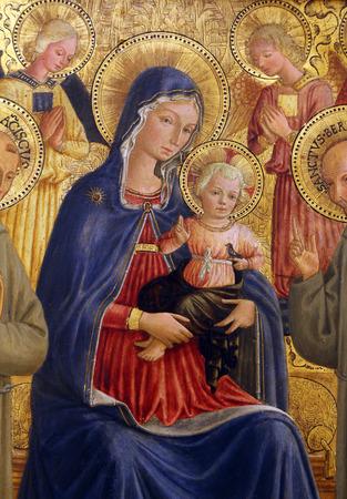 バルトロメオ Caporali: 聖母子と聖フランシスコとシトー修道会、巨匠コレクション、クロアチアの科学アカデミー ザグレブ、クロアチア