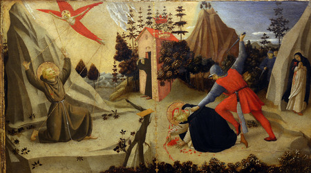 martyr: Fra Angelico: The stigmatization of St. Francis of Assisi and death of St. Peter Martyr, Old Masters Collection, Croatian Academy of Sciences in Zagreb, Croatia