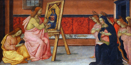 Luke: Francesco di Gentile: St. Luke paints the Virgin, Old Masters Collection, Croatian Academy of Sciences in Zagreb, Croatia